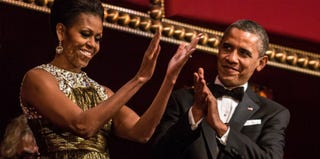First lady Michelle Obama and President Obama at the Kennedy Honors gala (Brendan Hoffman/Getty News Images)