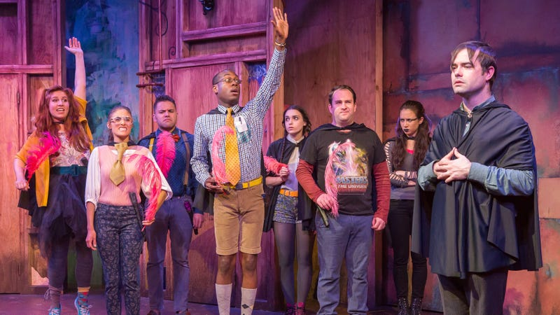 The cast of off-Broadway play, Puffs, which is headed to movie theaters for the first time.