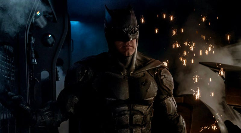 Ben Affleck as Batman in Justice League. Image: Warner Bros.