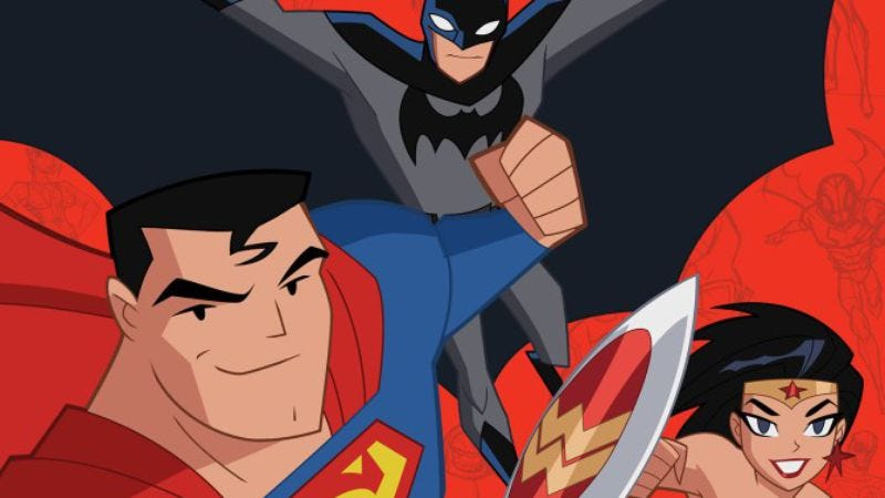 A promotional image for Justice League Action