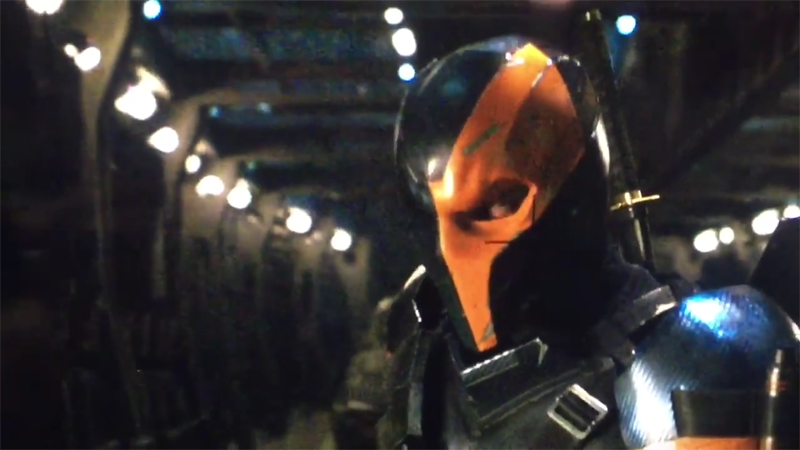 Illustration for article titled The First Look at Deathstroke, the Villain in Ben Affleck's Solo Batman Film [UPDATED]