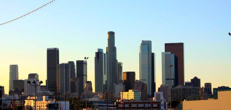 The majestic LA skyline. (Image: joedoeforty1/Flickr)