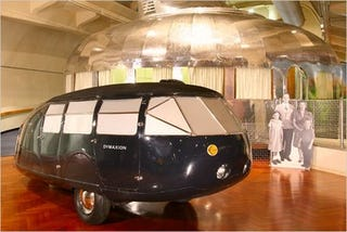 Illustration for article titled Bucky Fuller's Dymaxion Car on Display