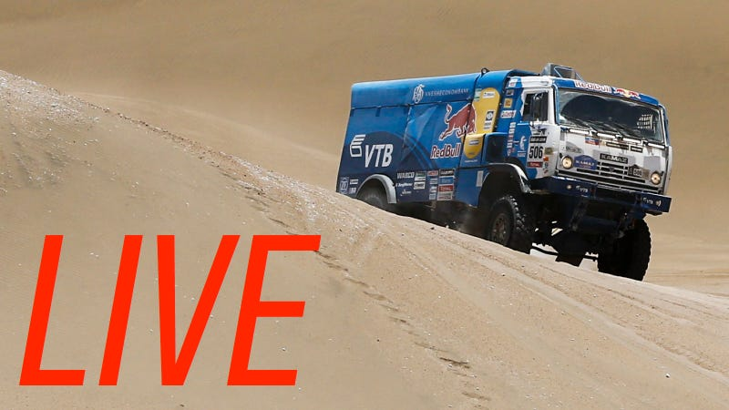 Illustration for article titled Live Updates On The 2014 Dakar Trucks Through Stage 13 And Podium