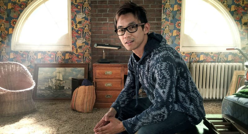 James Wan on the set of The Conjuring 2, which opens Friday. He'll next do Aquaman. Image: Warner Bros.