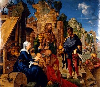 Albrecht Dürer, Adoration of the Magi, 1504 (Galleria degli Uffizi, Florence, Italy)