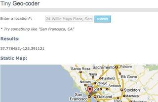 Illustration for article titled Tiny Geo-coder Webapp Converts Addresses to Latitude and Longitude