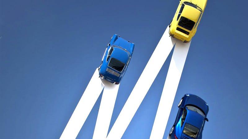 Illustration for article titled Car Art: Gerry Judah's New Sculpture for Porsche GB