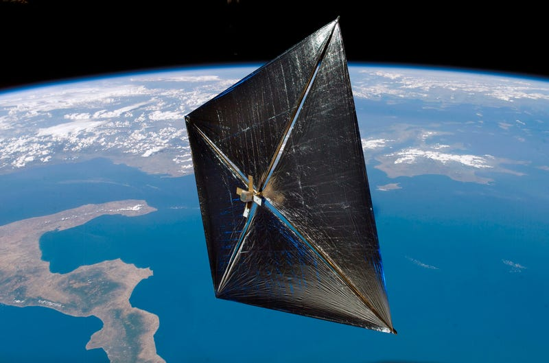 Illustration for article titled How the Solar Sail Could Fuel Interplanetary Travel