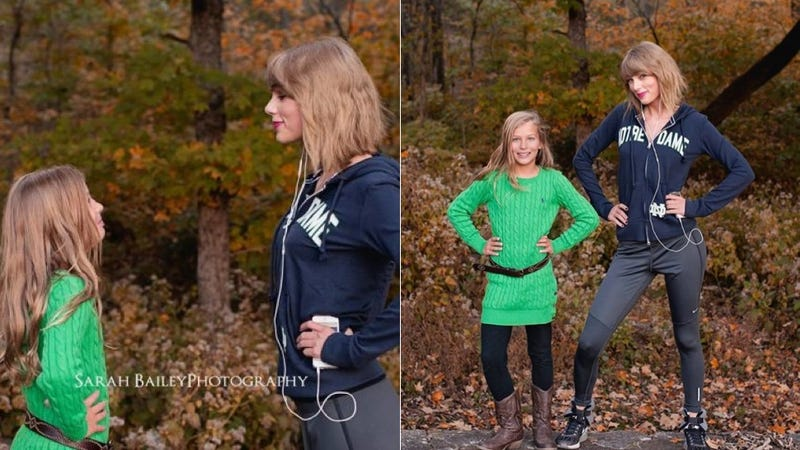 Illustration for article titled Taylor Swift Crashed a Little Girl's Portrait Session Just to Be Nice