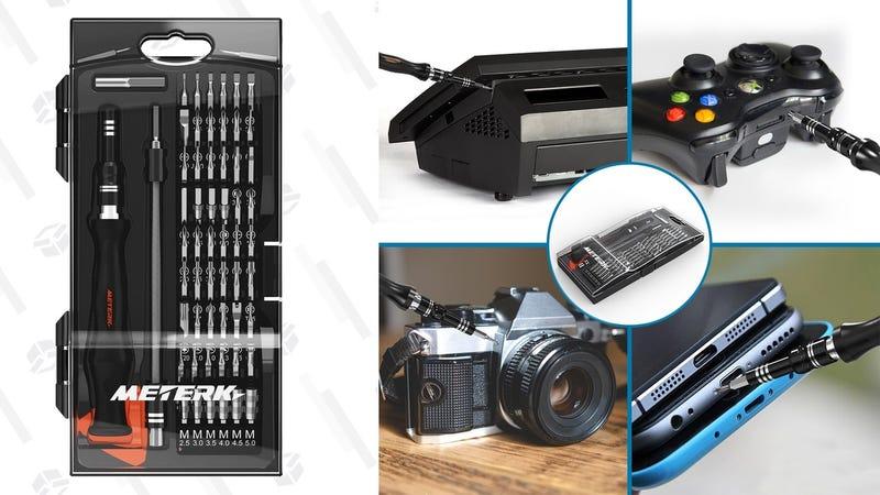 Meterk Magnetic Mini Screwdriver Set | $11 | Amazon | Promo code 9KE5TDH3