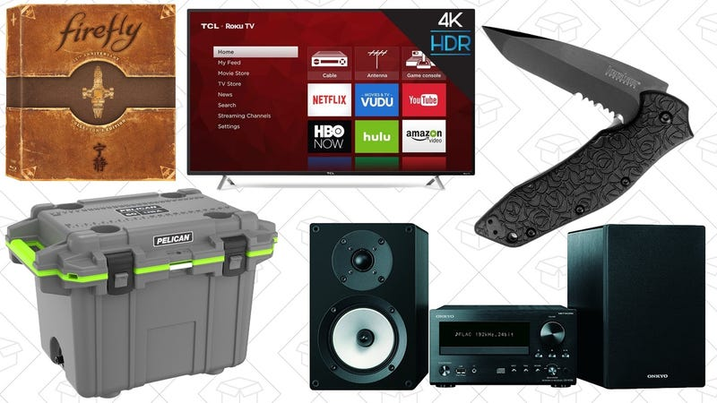 Illustration for article titled Sunday's Best Deals: Outdoor Gear, 4K TV, Firefly, and More
