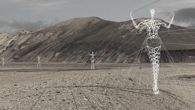These Beautiful Giant Sculptures Support Power Lines With Style
