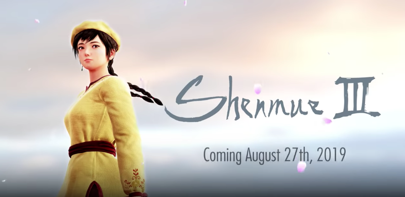 Illustration for article titled Shenmue III Will Be Released On August 27, 2019