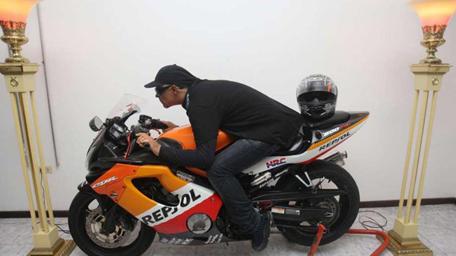 motorcycle shooting k  Funeral Home Displays Shooting Victim On Motorcycle For Wake