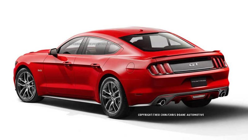 "Illustration for article titled Why isn't there a Mustang ""gran coupe?"""