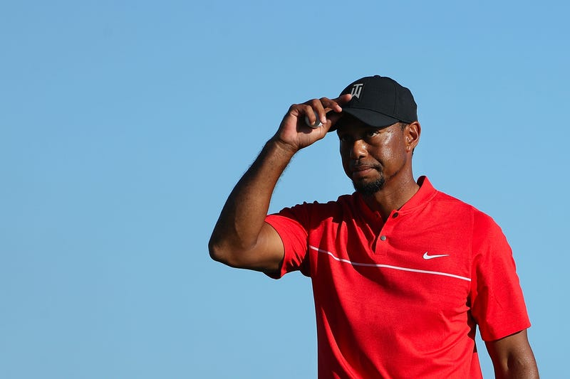 Tiger Woods walks off the 18th green following the final round of the Hero World Challenge at Albany, the Bahamas, on Dec. 4, 2016 Christian Petersen/Getty Images