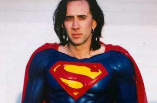 Illustration for article titled Proof That Nic Cage's Superman Could Have Looked Pretty Amazing