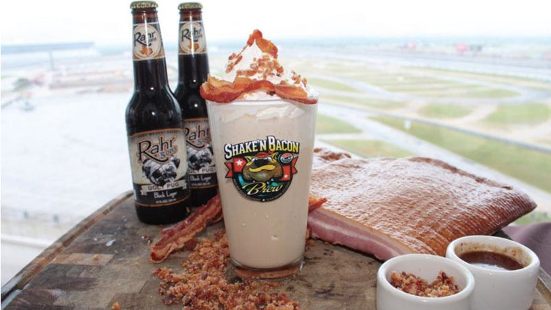 Illustration for article titled Texas Race Track's Bacon Beer Milkshake Is Likely The Best Thing Ever