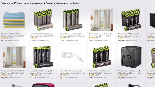 AmazonBasics Home Essentials Are On Sale, So Stock Up On Rechargeable Batteries And a Lot More