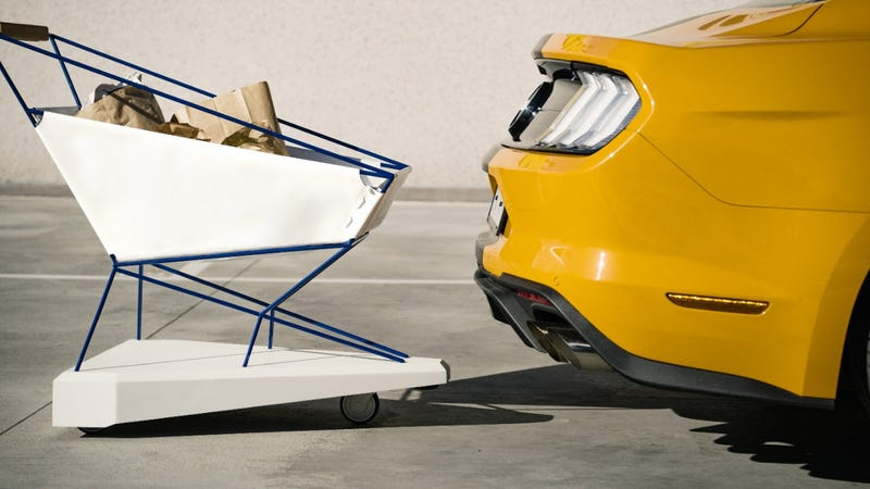 Illustration for article titled Ford's Prototype Self-Braking Shopping Cart Could Save Cars Everywhere