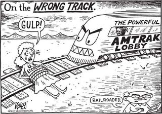 Illustration for article titled Railroaded