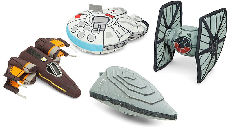 Illustration for article titled Recreate Epic Space Battles in Bed With These Plush Star Wars Ships
