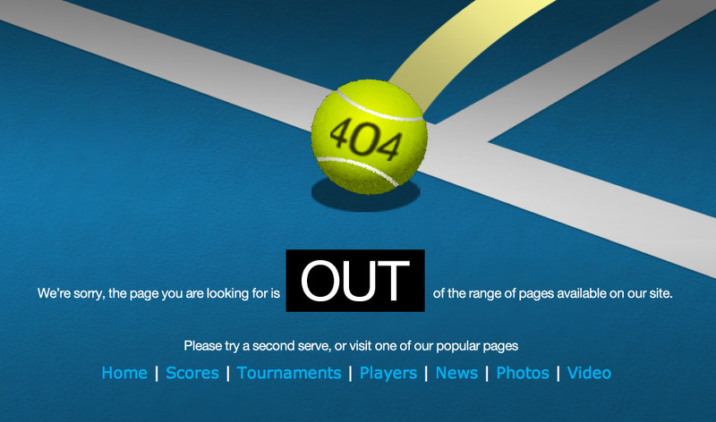 Illustration for article titled The ATP's 404 Error Page Is Brilliant, Unique, Groan-Inducing