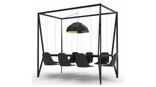 Illustration for article titled With This Swing Table in the Office, Work Becomes Play