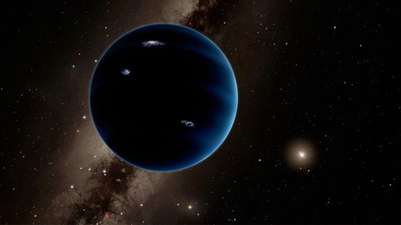 Artist's concept of Planet 9. (Image: Caltech/R. Hurt)