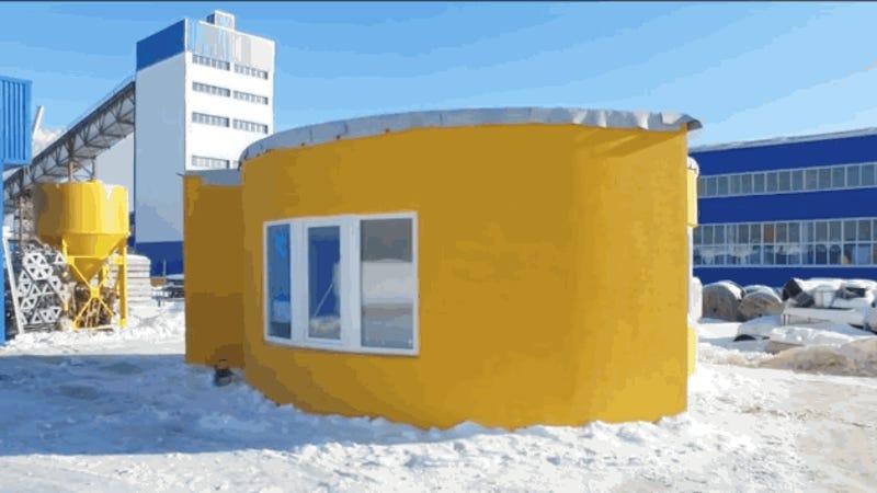 En Rusia han construido una casa con impresión 3D en tan sólo 24 horas