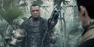 Illustration for article titled This Summer, Laurence Fishburne Is A Bad-Ass With A Predator Mask