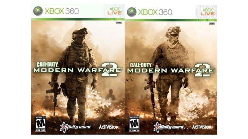 Illustration for article titled Bored Soldier Recreates Modern Warfare Box Art