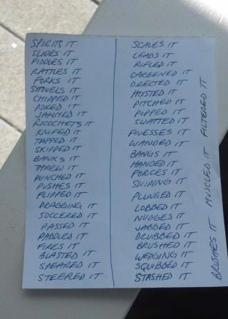 List Every Synonym For Pass That Rifled Out Of Doc Emrick S Mouth
