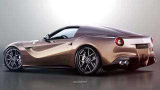 Ilration For Article Led What Would A Ferrari F12 Convertible Look Like