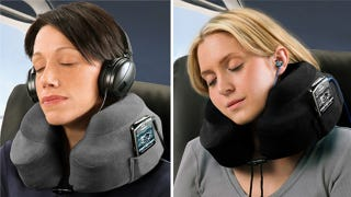 Illustration for article titled Travel Pillows With Inbuilt MP3 Player Pockets Will De-Tangle and Chill You Out
