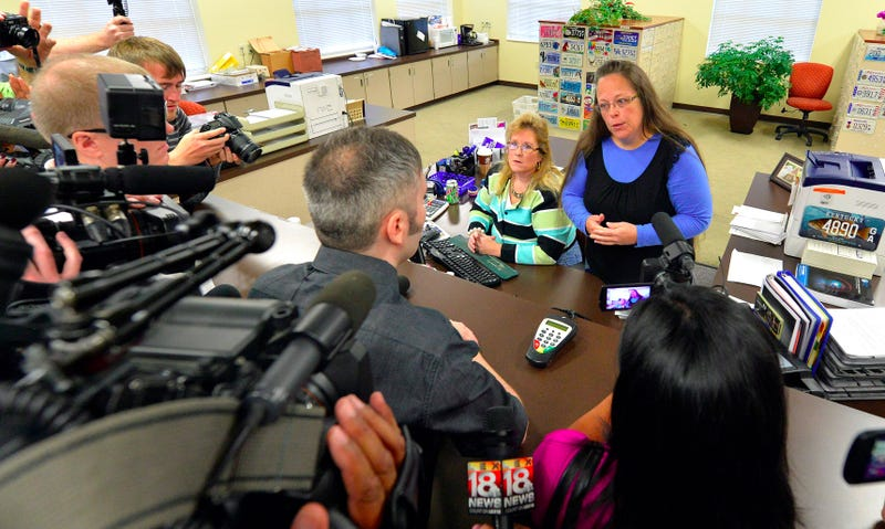 Illustration for article titled Kim Davis Jailed For Refusing to Issue Marriage Licenses to Gay Couples
