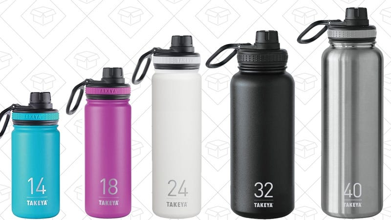 20% off Takeya Vacuum Insulated Bottles, Discount Shown at Checkout
