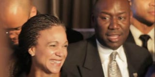 Melissa Harris-Perry of MSNBC and Benjamin Crump, attorney for Trayvon Martin's family, at 2012's The Root 100 gala