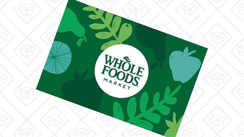 Tarjeta regalo de Whole Foods   $90   StaplesGráfico: Shep McAllister