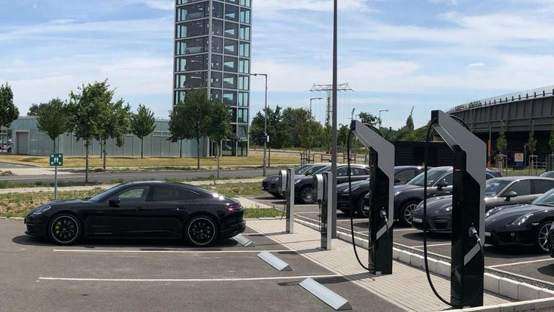 Porsche's first fast chargers
