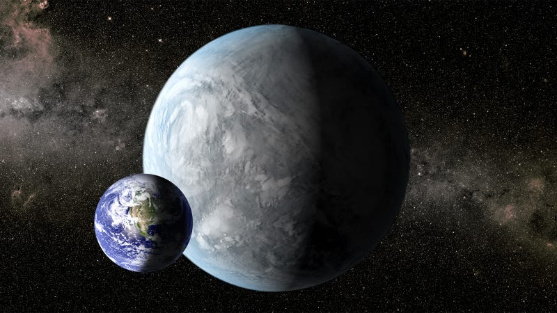 Illustration for article titled Astronomers: Super-Earths have oceans and continents, just like Earth