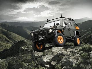 Illustration for article titled Mercedes-Benz G-Wagon Light Armoured Patrol Vehicle 6.X