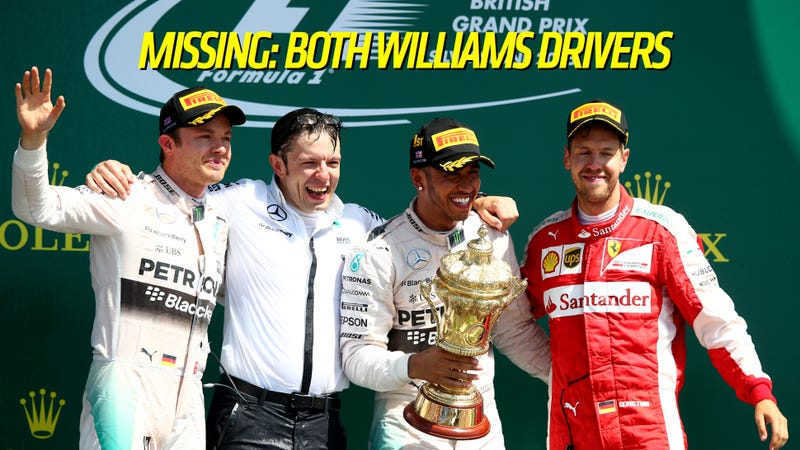 Illustration for article titled How The Williams F1 Team Threw Away Not Just A Win, But A Podium Finish