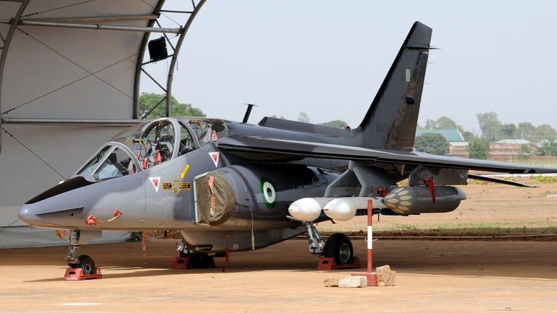 A Nigerian Air Force Dornier Alpha Jet. Photo credit: Kenneth Iwelumo