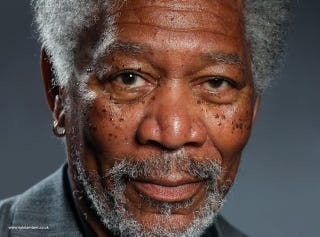 Illustration for article titled This Incredible Portrait of Morgan Freeman Was Painted on an iPad