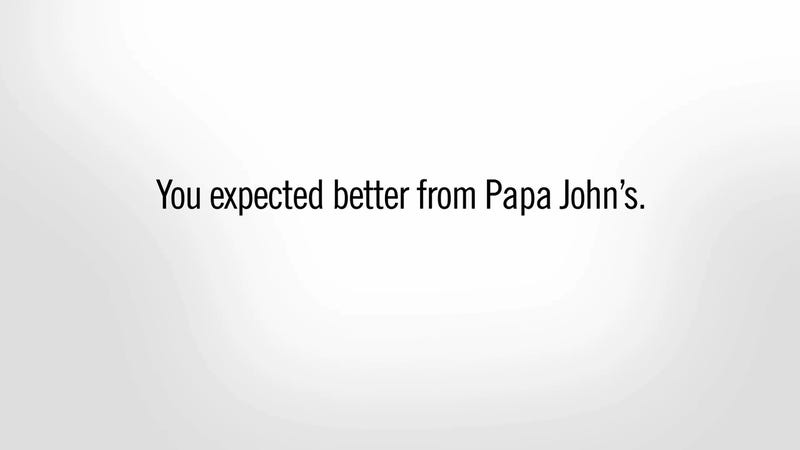 Illustration for article titled Papa John's (The Pizza) Is Very, Very Sorry About What Papa John (The Guy) Did