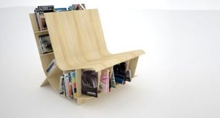 Illustration for article titled Bookseat: the Book Storage Chair for Small Libraries
