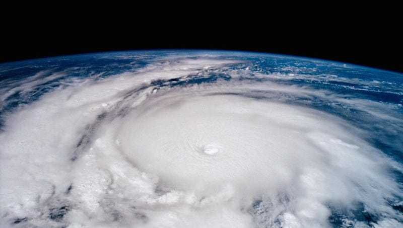 Hurricane Emilia in the Eastern Pacific Ocean in 1994, taken from the Columbia. Image: NASA