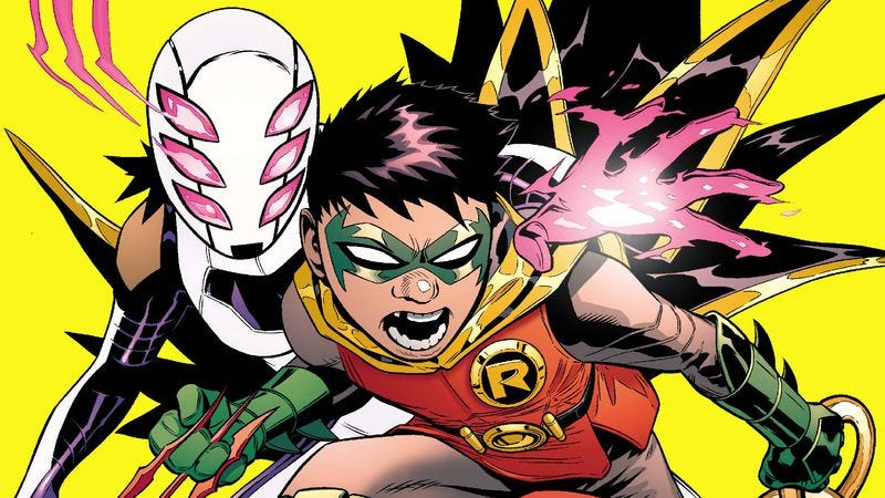 Illustration for article titled Exclusive DC preview: Damian meets his furry flying pet in Robin: Son Of Batman #6